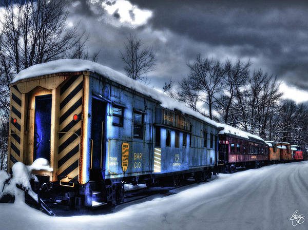 Photograph - Moonlight Train by Wayne King
