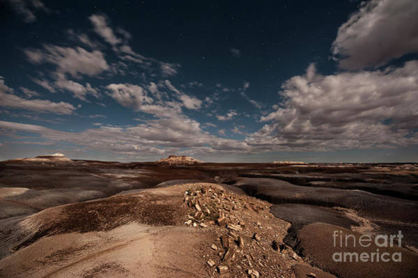 Photograph - Moonlit Badlands by Melany Sarafis