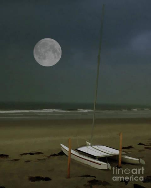 Photograph - Moonlit Beach by Geoff Crego