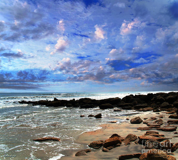 Photograph - Moonlit Beach Seascape At Wisdom Beach Florida C2 by Ricardos Creations