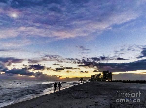 Photograph - Moonlit Beach Sunset Seascape 0272d by Ricardos Creations