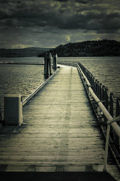 Wall Art - Photograph - Moonlit Boat Dock On Coeur D' Alene Lake by John Trax
