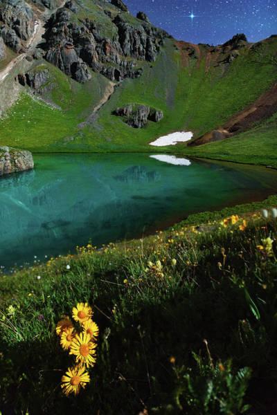 Aqua Green Photograph - Moonlit Colorado Dreamscape by Mike Berenson
