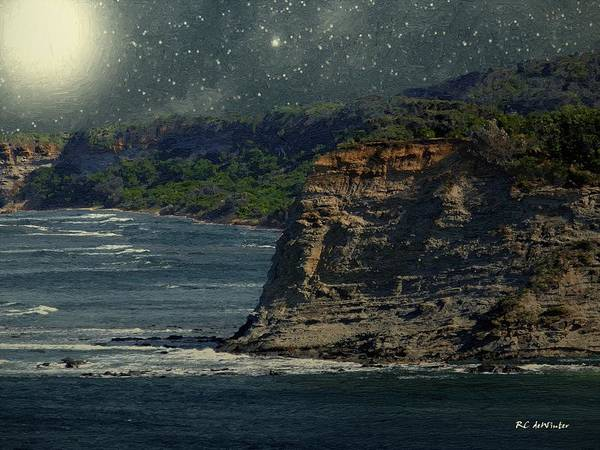 Painting - Moonlit Cove by RC DeWinter
