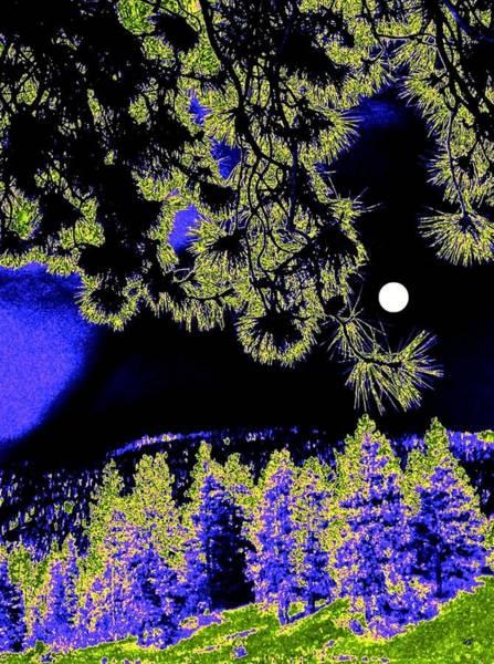Okanagan Valley Digital Art - Moonlit High Country by Will Borden