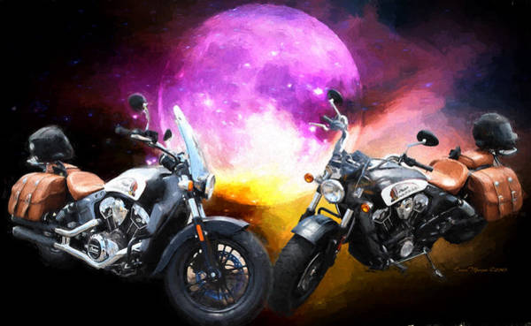 Photograph - Moonlit Indian Motorcycle by Ericamaxine Price