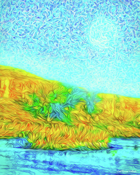 Digital Art - Moonlit Island Blue - Boulder County Colorado by Joel Bruce Wallach