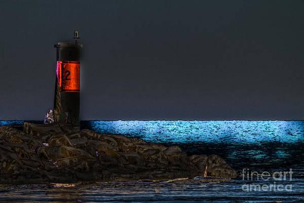 Photograph - Moonlit Lake by William Norton