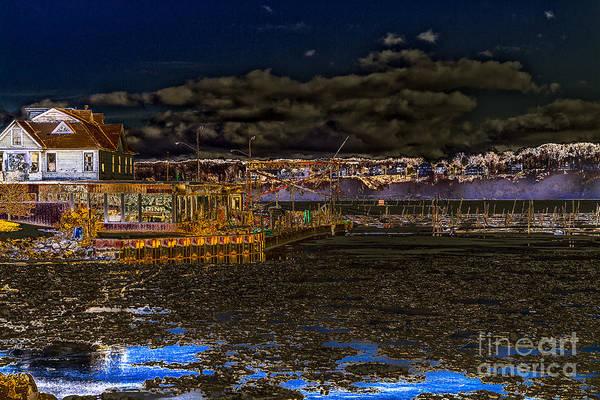 Photograph - Moonlit Marina by William Norton