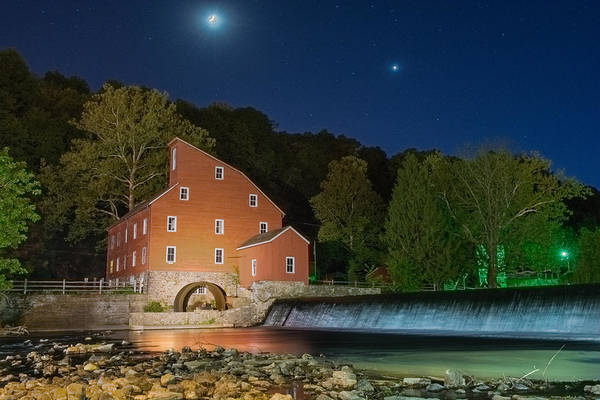 Wall Art - Photograph - Moonlit Mill by Ryan Crane