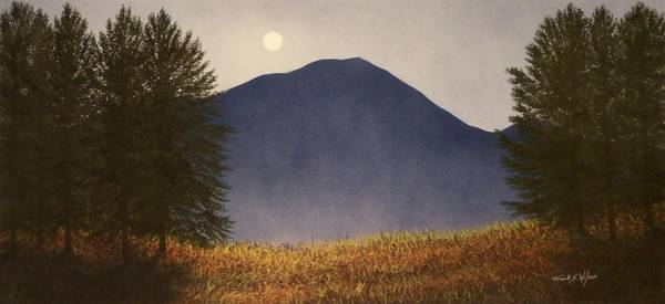 Painting - Moonlit Mountain Meadow by Frank Wilson