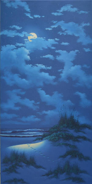 Painting - Moonlit Sands by Kenneth F Aunchman