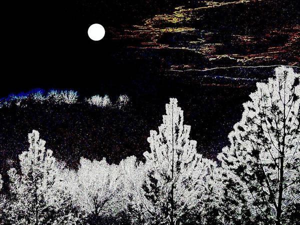 Pine Valley Digital Art - Moonlit Valley by Will Borden