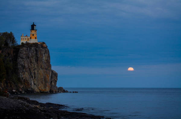 Photograph - Moonrise At Split Rock by Rikk Flohr