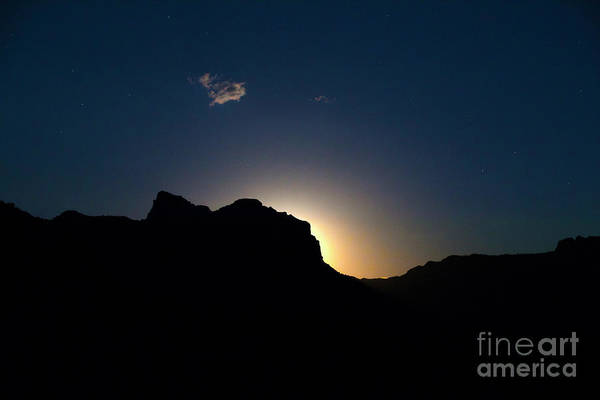Wall Art - Photograph - Moonrise At Zion by Diane Diederich