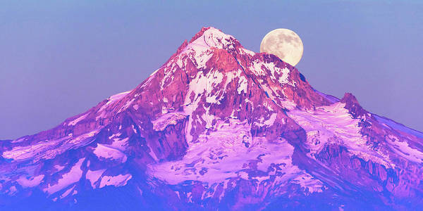 Mt Hood Photograph - Moonrise Behind Mt. Hood by Patrick Campbell