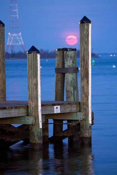 Wall Art - Photograph - Moonrise Dock by Jennifer Casey