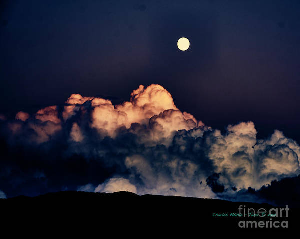 Photograph - Moonrise In Taos by Charles Muhle
