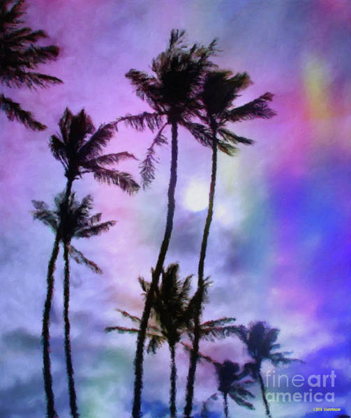 Wall Art - Photograph - Moonrise In The Palm Trees by Jerome Stumphauzer