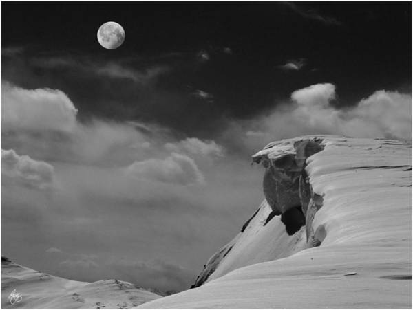 Photograph - Moonrise Over A Cornice by Wayne King