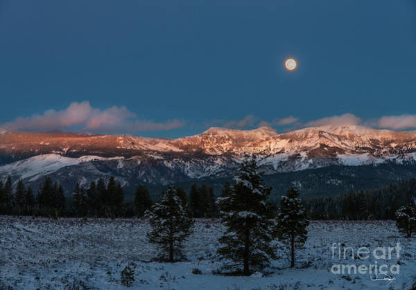 Wall Art - Photograph - Moonrise Over Alpine Glow No1 by Vance Fox