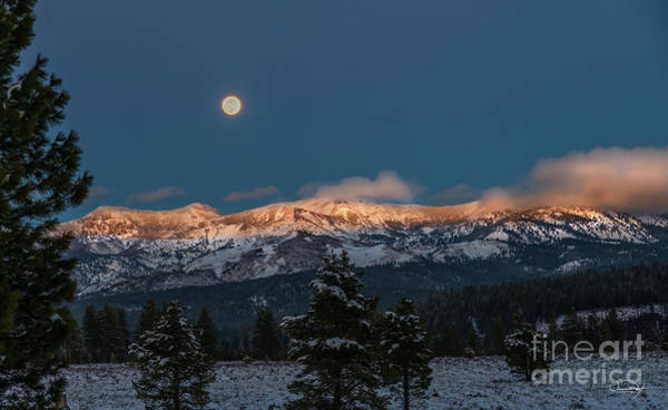 Wall Art - Photograph - Moonrise Over Alpine Glow No2 by Vance Fox