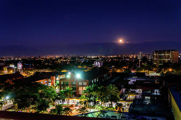 Photograph - Moonrise Over Cali by Randy Scherkenbach