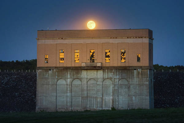 Photograph - Moonrise Over Franklin Falls Dam by Robert Clifford