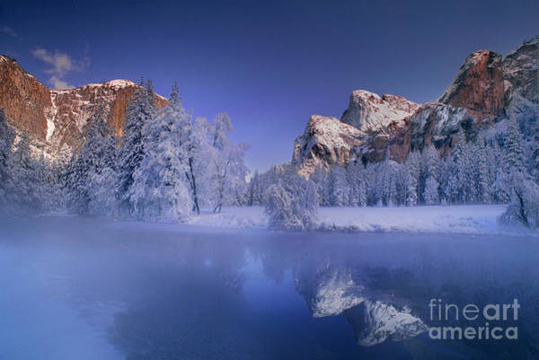 Photograph - Moonrise Over Gates Of The Valley Yosemite National Park by Dave Welling