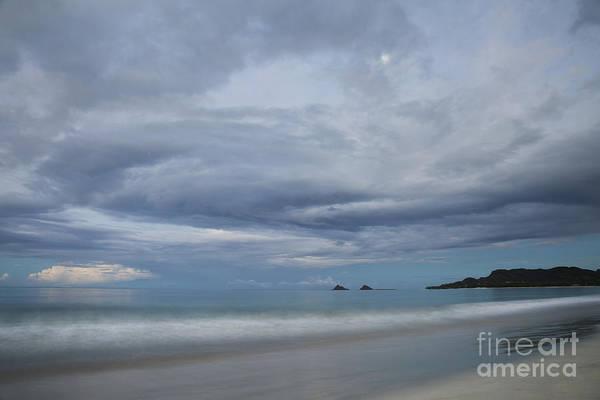 Photograph - Moonrise Over Kailua Beach by Charmian Vistaunet