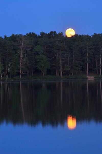 Wall Art - Photograph - Moonrise Over Lake by John Burk