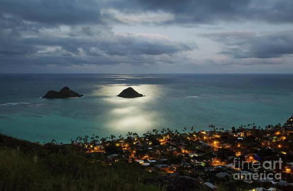 Photograph - Moonrise Over Lanikai by Charmian Vistaunet