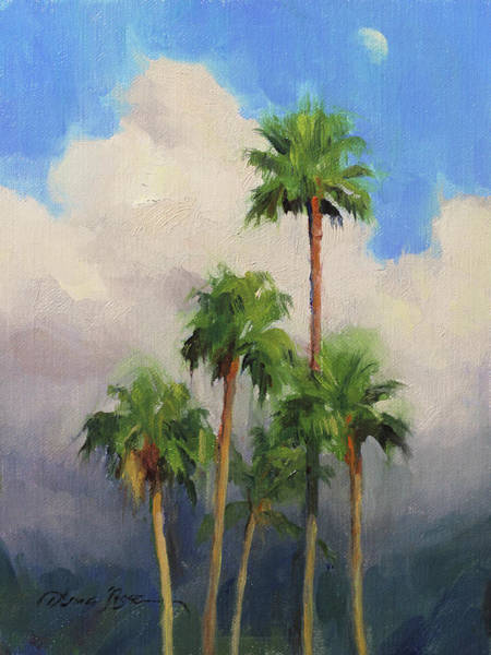 Wall Art - Painting - Moonrise Over Maui by Anna Rose Bain