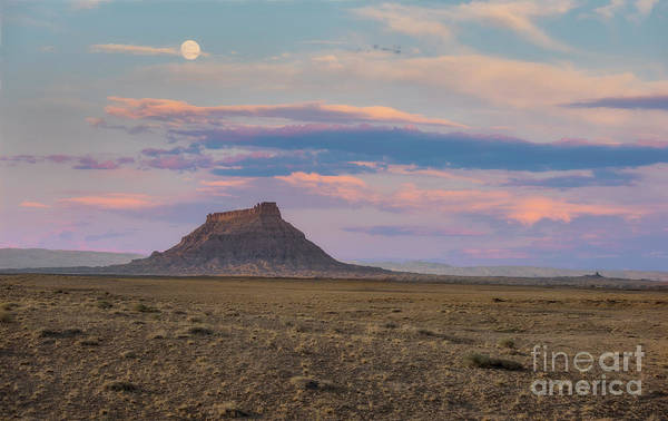 Wall Art - Photograph - Moonrise Over Mesa by Peng Shi