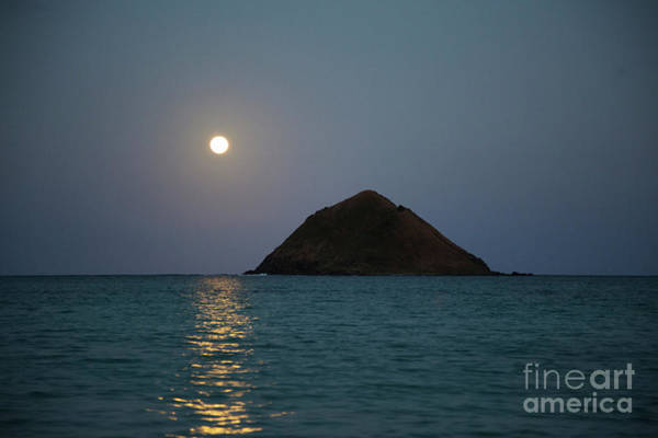 Photograph - Moonrise Over Moku Iki by Charmian Vistaunet