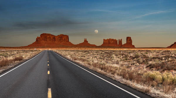 Photograph - Moonrise Over Monument Valley by Lou Novick