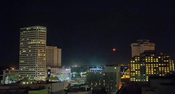 Wall Art - Photograph - Moonrise Over New Orleans by Linda Eszenyi
