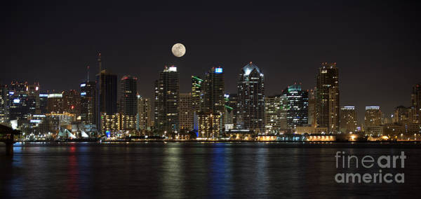 Wall Art - Photograph - Moonrise Over San Diego by Sandra Bronstein