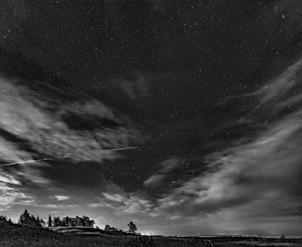 Sauble Beach Photograph - Moonrise Over Sauble Beach Bw by Steve Harrington