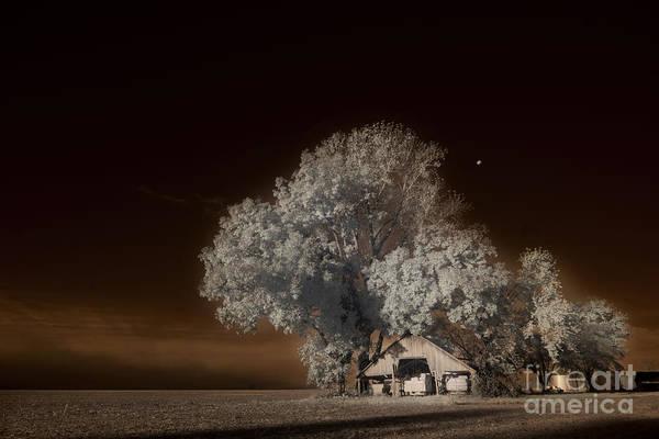 High Dynamic Range Digital Art - Moonrise Over The Bottoms, October by William Fields