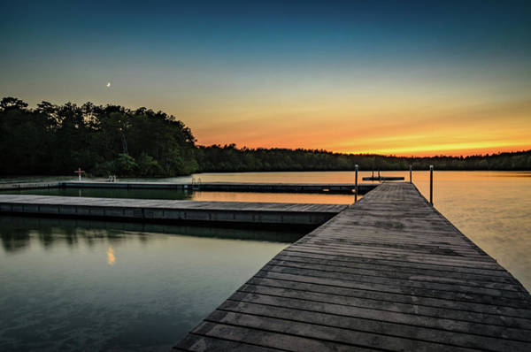 Cachalot Wall Art - Photograph - Moonrise, Sunset by Dennis Wilkinson