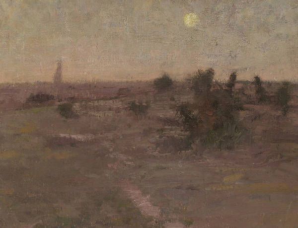 Painting - Moonrise, Templestowe by David Davies
