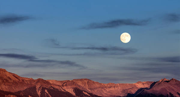 Photograph - Moonrise With Afterglow by Denise Bush