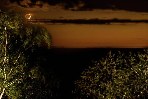 Photograph - Moonset At Bay Harbor by Onyonet  Photo Studios