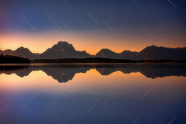 Photograph - Moonset At Moran by Darren White