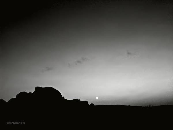 Photograph - Moonset Big Bend by Brandy Beverly