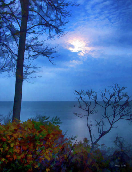 Photograph - Moonset 1 by Rebecca Samler