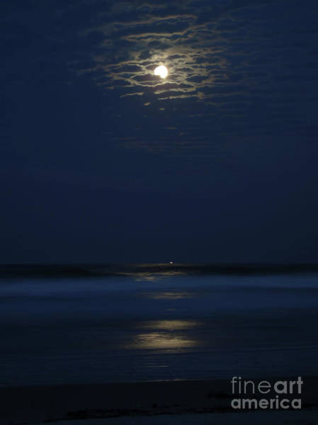 Photograph - Moonshine In The Surf by D Hackett