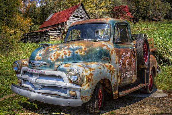 Chilhowee Photograph - Moonshine Truck by Debra and Dave Vanderlaan