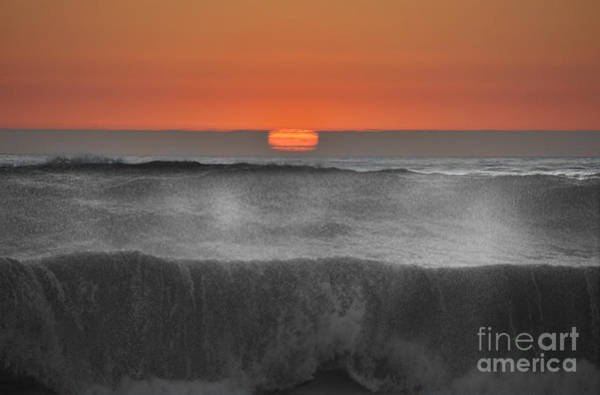 Moonstone Beach Sunset Art Print